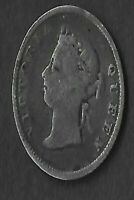 BRITISH GUIANA & WEST INDIES 1891 SILVER FOURPENCE