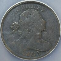 1803 LARGE CENT SMALL DATE LARGE CENT VG DETAILS S261 NCS