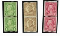 STAMPS US COIL LINE PAIRS SC S 604 605 606