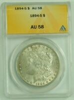 1894 S MORGAN SILVER DOLLAR COIN UNITED STATES ANACS AU58 ALMOST UNCIRCULATED