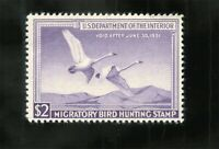 $2 1950 MIGRATORY BIRD HUNTING STAMP RW17 US FEDERAL DUCK ST