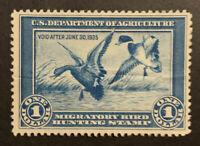 TDSTAMPS: US FEDERAL DUCK STAMPS SCOTTRW1 UNUSED NG CREASE