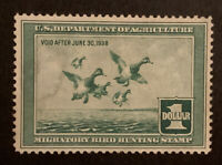 TDSTAMPS: US FEDERAL DUCK STAMPS SCOTTRW4 UNUSED NG THIN