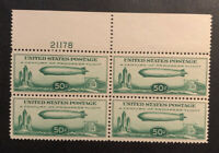 TDSTAMPS: US AIRMAIL STAMPS SCOTTC18 MINT NH OG PBLOCK OF 4