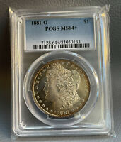 1881-O  PCGS MINT STATE 64 MORGAN SILVER DOLLAR -WELL STRUCK COIN