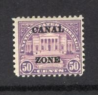 CANAL ZONE 1928 50 OVERPRINT   OG MH    SC 94   CATS $230.00