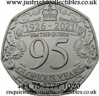 2021 GIBRALTAR QUEENS 95TH BIRTHDAY 50P IN STOCK 50 PENCE