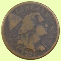 1794 LIBERTY CAP LARGE CENT | , EARLY US CENT -  GOOD   826