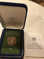 REPUBLIC OF TRINIDAD AND TOBAGO ONE HUNDRED DOLLAR GOLD COIN