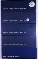 LOT OF 5 1966 1967 SPECIAL MINT SET 5 COIN SETS 40  SILVER H