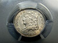 1832 H10C CAPPED BUST HALF DIME MINT STATE 62 PCGS, REALLY  LOOKS HIGHER