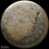 1810/9 LARGE CENT CLASSIC HEAD EARLY MINT OVERDATE ERROR LC083