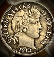 1912 BARBER DIME, MINT STATE 63 PCGS GRADED,   COIN
