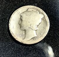 1916 D MERCURY DIME     THE QUEEN OF THE SERIES  MUST HAVE