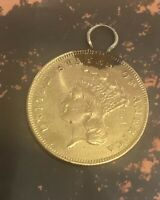 1861 $3 GOLD INDIAN PRINCESS ..EXTREMELY RARE  5959 MINTAGE.