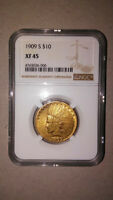 1909 S INDIAN HEAD GOLD EAGLE COIN $10   NGC CERTIFIED   RAR