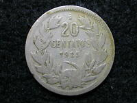 CH 1: CHILE 20 CENTAVOS DATED 1925