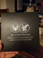 SHIPS FAST 2021 SILVER PROOF SET AMERICAN EAGLE COLLECTION 2