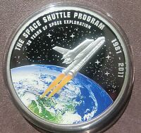 2012 COOK ISLANDS $1 SPACE SHUTTLE COIN  ONLY 981  30 YEARS SPACE EXPLORATION