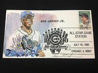 KEN GRIFFEY JR ALL STAR GAME STATION 1990 HAND PAINTED WILD HORSE CACHET 21100