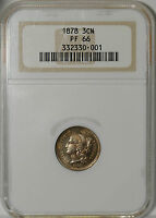 1878 THREE CENT NICKEL   NGC   PF 66