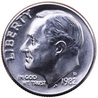 1982 D ROOSEVELT DIME CHOICE BU US COIN