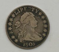 1805 DRAPED BUST HALF DOLLAR - HIGH GRADE /E125