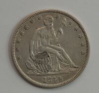 1844 LIBERTY SEATED HALF DOLLAR DOUBLED DATE /G191