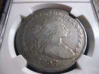 1797 SMALL EAGLE  DRAPED BUST  DOLLAR /  NGC VF
