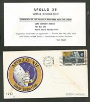 APOLLO XII 12 MOON LANDING  CERTIFIED SERIALIZED COVER  LIMIT 3000 NOV 19 1969