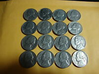 16 DIFFERENT  JEFFERSON NICKELS  1972     1979 D   NICE