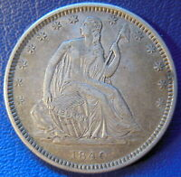 1840 O SEATED LIBERTY HALF DOLLAR ABOUT UNCIRCULATED TO MINT STATE COIN 9507