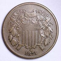 1871 TWO CENT PIECE CHOICE AU SHIPS FREE