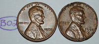 UNITED STATES 1958 AND 1958 D WHEAT PENNY 1 LINCOLN CENT USA COIN LOT B02