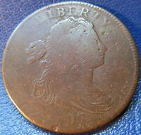 1797 DRAPED BUST LARGE CENT GOOD TO  GOOD US COIN REV OF 1795 10509