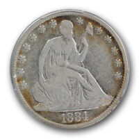 1884 50C LIBERTY SEATED HALF DOLLAR PCGS VG 10 GOOD KEY DATE
