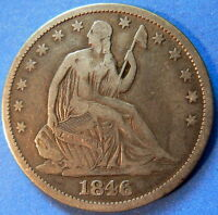 1846 O HALF DOLLAR SEATED LIBERTY FINE TO EXTRA FINE 4131