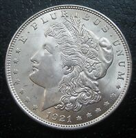 1921 MORGAN SILVER DOLLAR CHOICE BU G1700