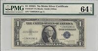 1935 G $1 NO MOTTO PMG CHOICE UNC 64 EPQ FR. 1616 STAR SILVER CERTIFICATE