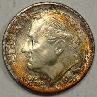 1955 D ROOSEVELT DIME CHOICE TO GEM UNCIRCULATED NICE TONING    0423 16