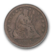 1865 S LIBERTY SEATED QUARTER PCGS VG 10 GOOD KEY DATE LOW MINTAGE