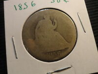 1856 SEATED LIBERTY HALF DOLLAR  160 YEAR OLD 90 SILVER COIN