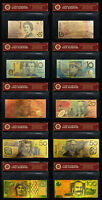 24KT GOLD COLOURED AUSTRALIAN BANK NOTE LIMITED EDITION SET  BANKNOTE