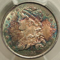 1831 BUST QUARTER SMALL LETTERS UNCIRCULATED PCGS CERT GREAT COLOR