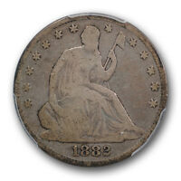 1882 50C LIBERTY SEATED HALF DOLLAR PCGS VG 8 GOOD KEY DATE LOW MINTAGE