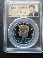 1995 S CLAD 50C PCGS PR70 DCAM 50TH ANNIVERSARY LABEL JFK   GEM PROOF
