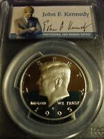 1995 S SILVER 50C PCGS PR70 DCAM PORTRAIT LABEL JFK HALF   GEM PROOF