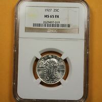 1927 STANDING LIBERTY QUARTER NGC MINT STATE 65 FH - FULL HEAD