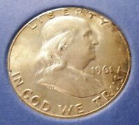 1961 P FRANKLIN SILVER HALF DOLLAR  50 CENTS COIN FROM COMPLETE SET COLLECTION B