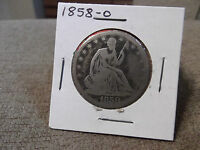 1858 O SEATED HALF DOLLAR  GOOD?